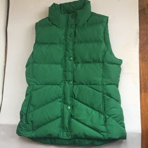 J.Crew  women's puff vest green Sherpa medium